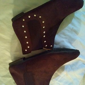 Brown - Silver Studded Brand New Booties - 9